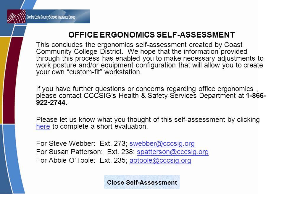 Close Self-Assessment