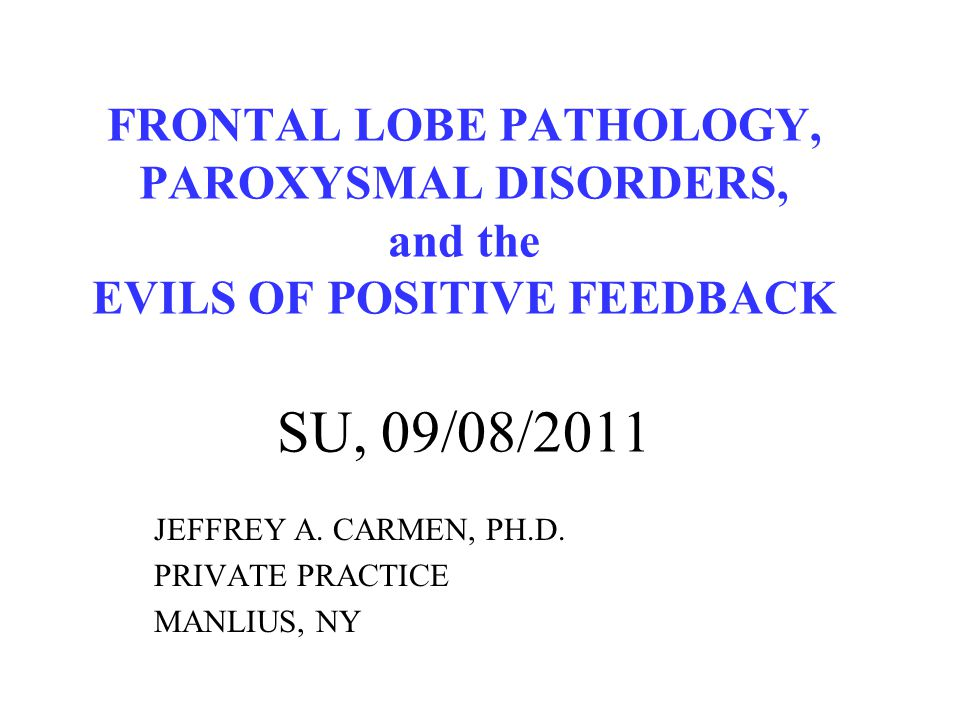 JEFFREY A. CARMEN, PH.D. PRIVATE PRACTICE MANLIUS, NY