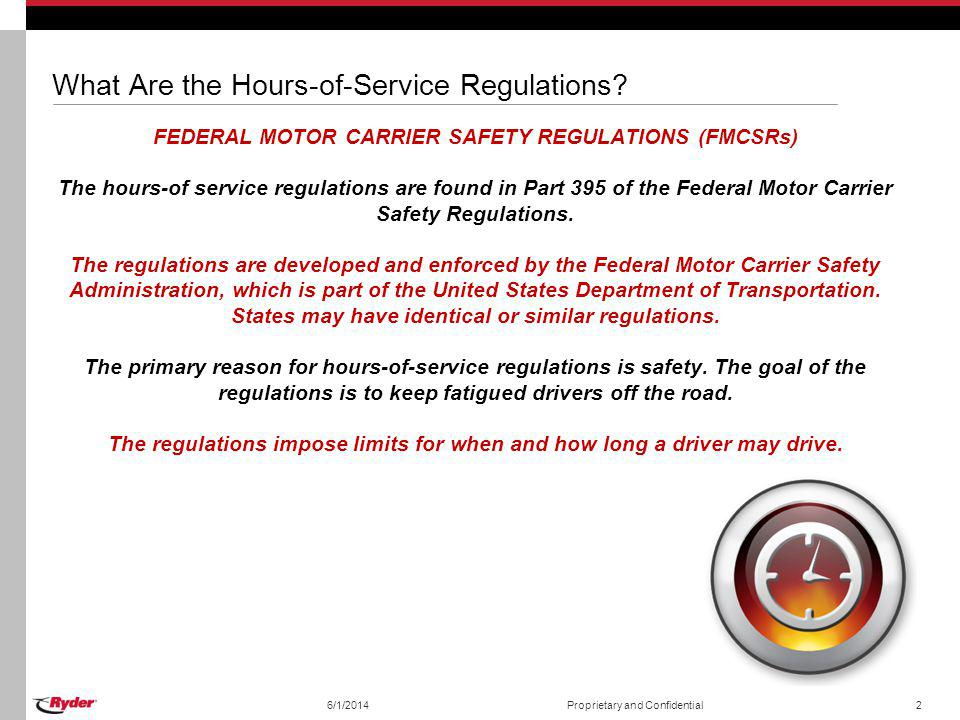 What Are the Hours-of-Service Regulations