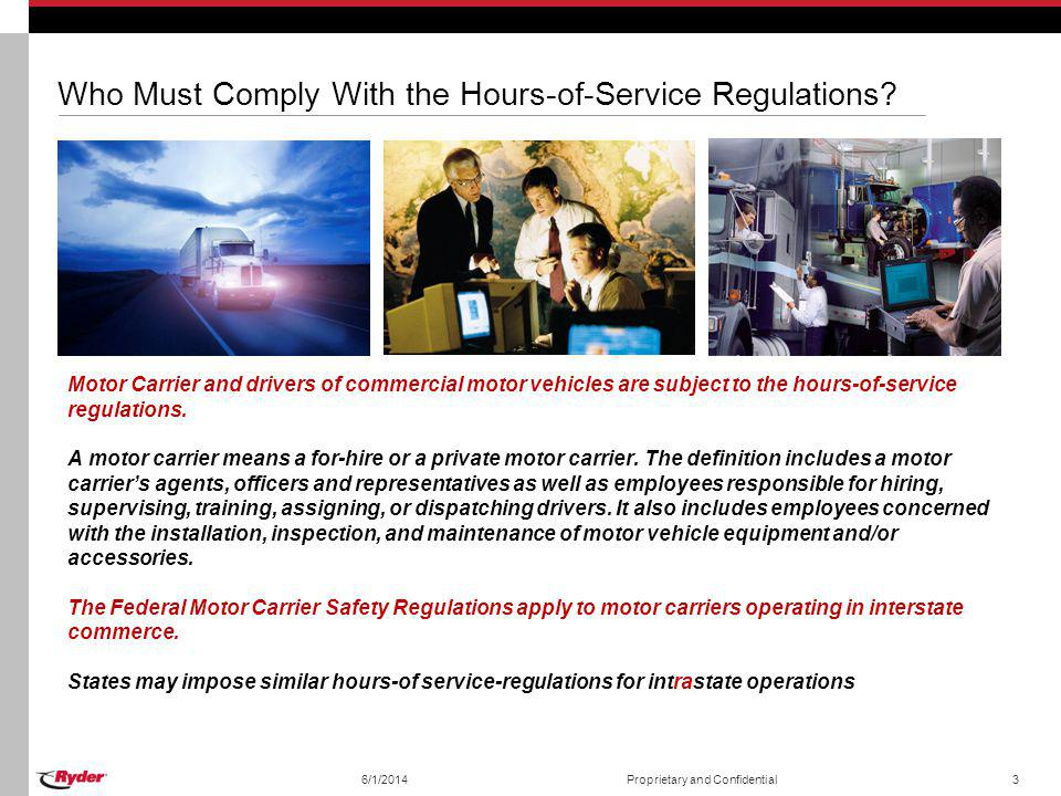 Hours of service regulations ppt video online download for Federal motor carrier safety regulations