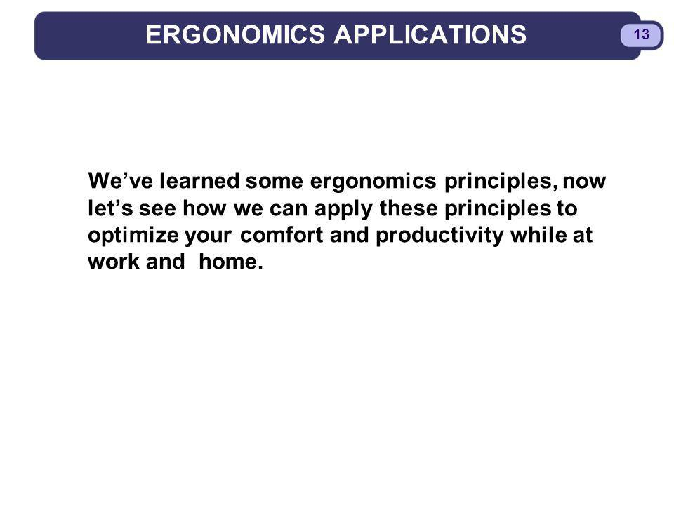 ERGONOMICS APPLICATIONS