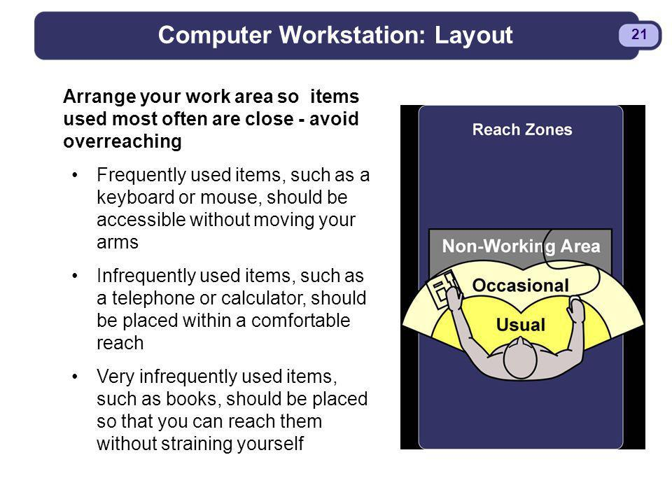 Computer Workstation: Layout