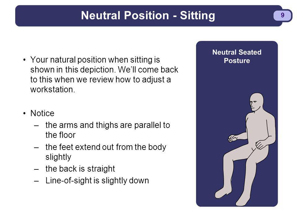 Neutral Position - Sitting