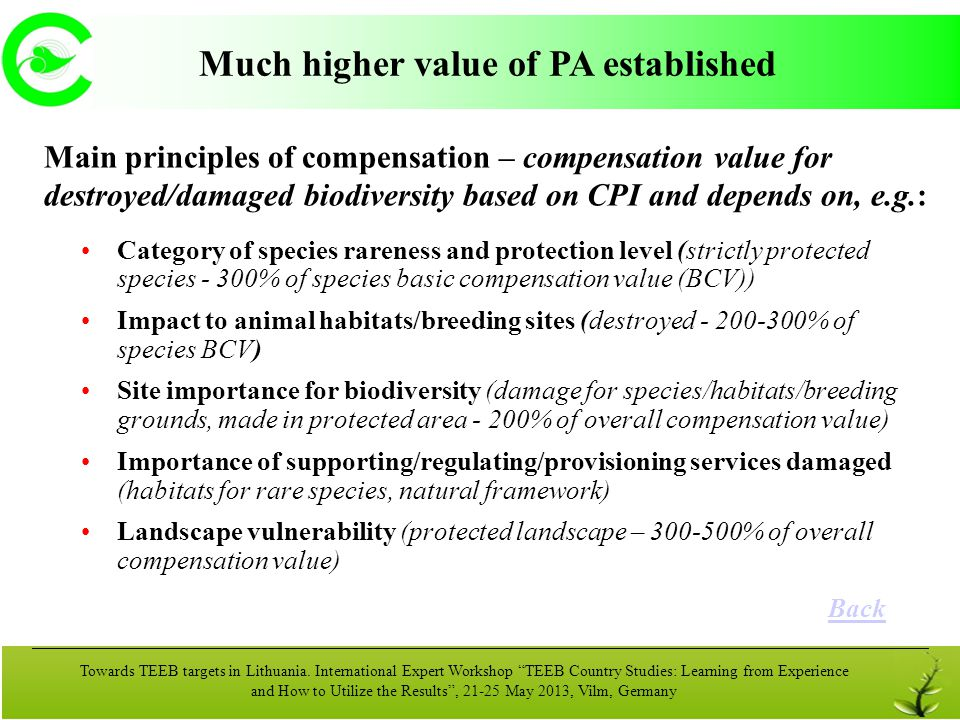 Much higher value of PA established
