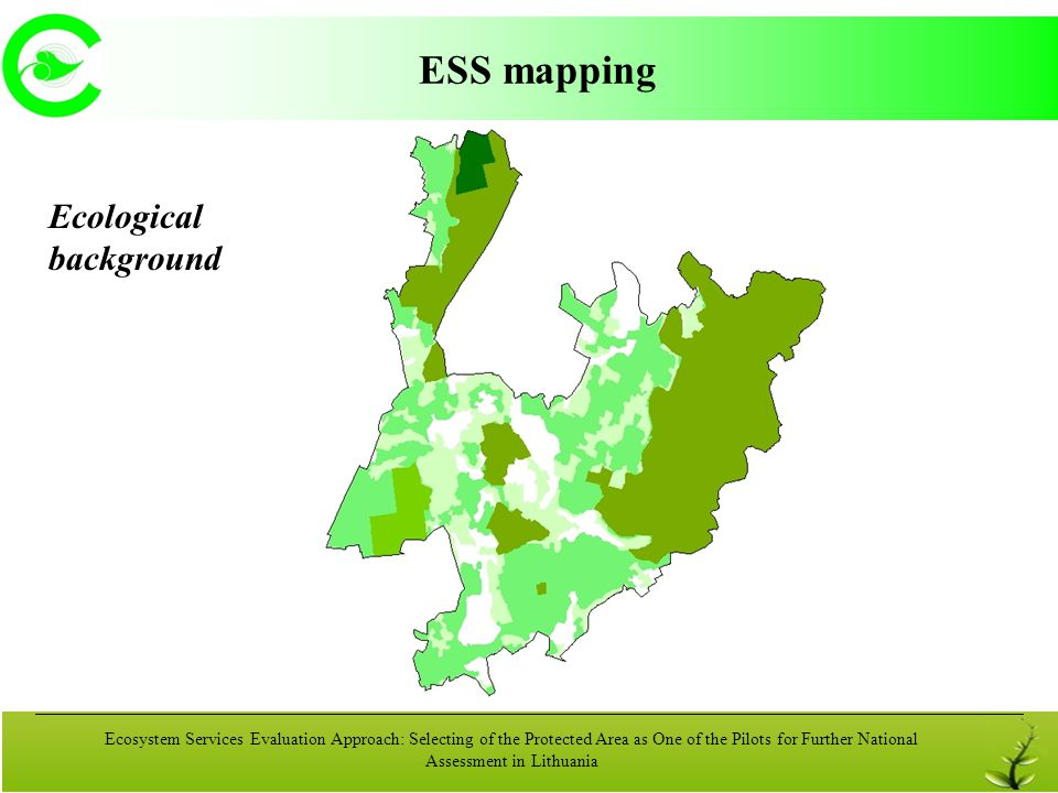 ESS mapping Ecological background