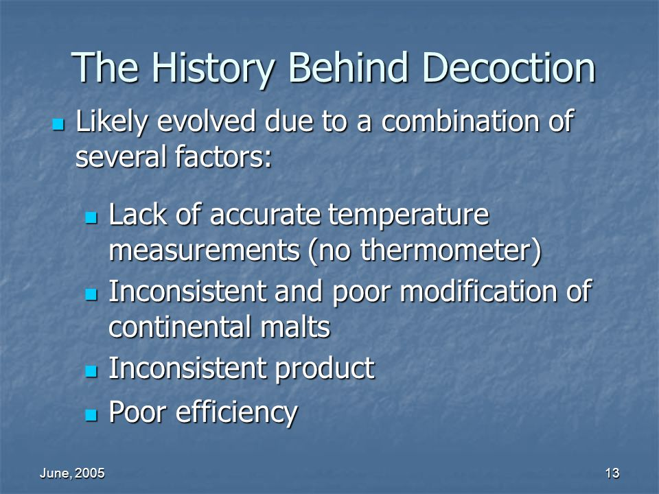 The History Behind Decoction