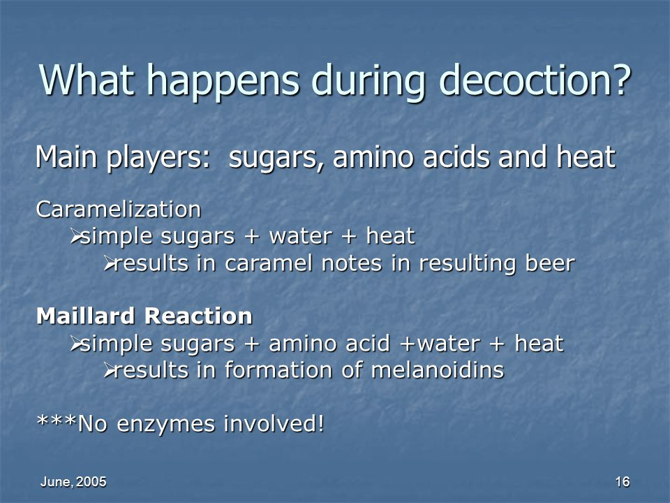 What happens during decoction