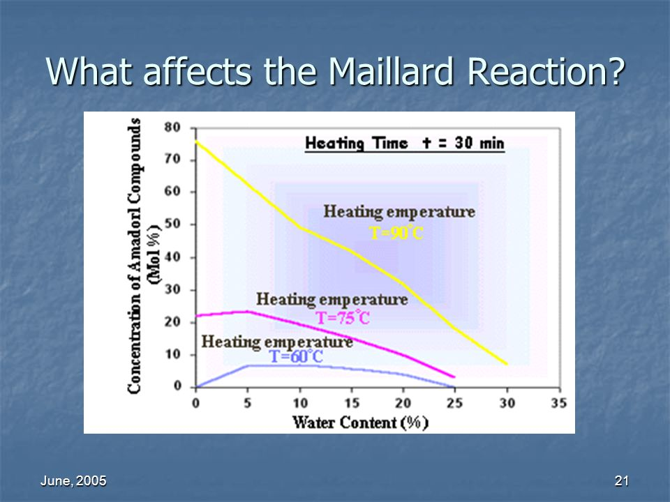 What affects the Maillard Reaction
