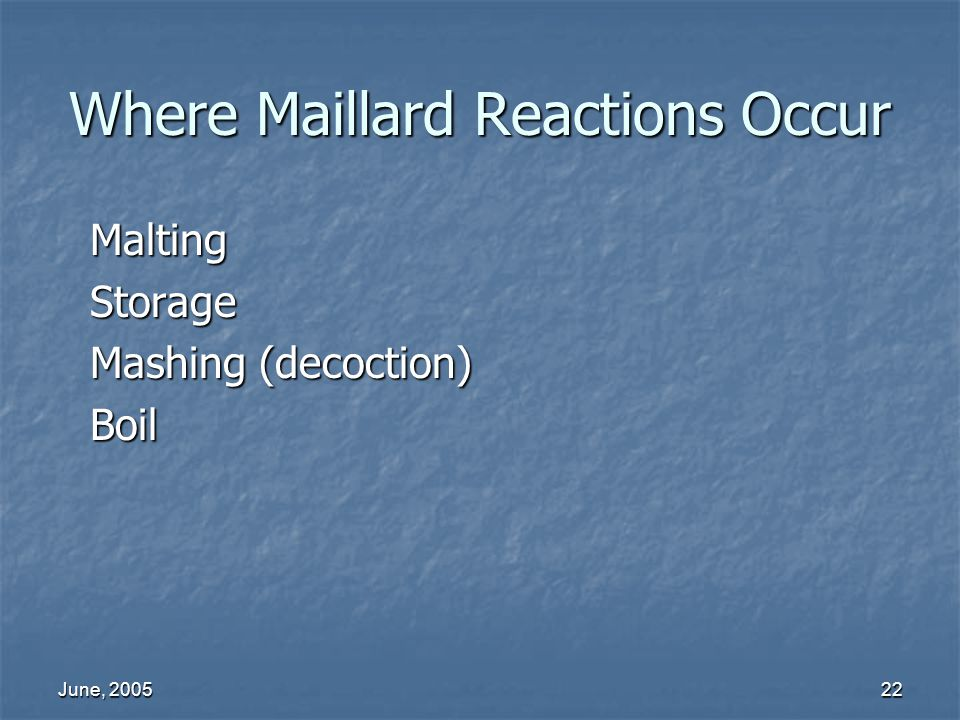 Where Maillard Reactions Occur