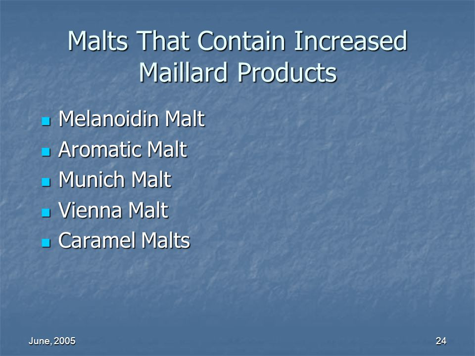 Malts That Contain Increased Maillard Products