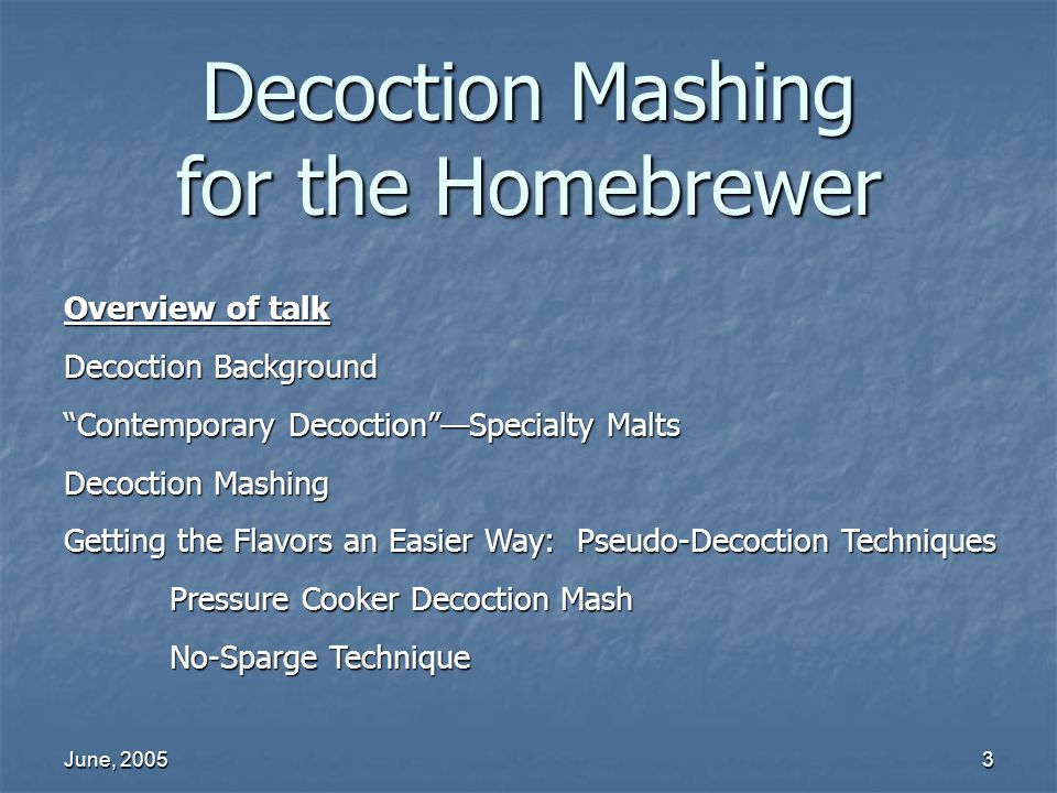 Decoction Mashing for the Homebrewer
