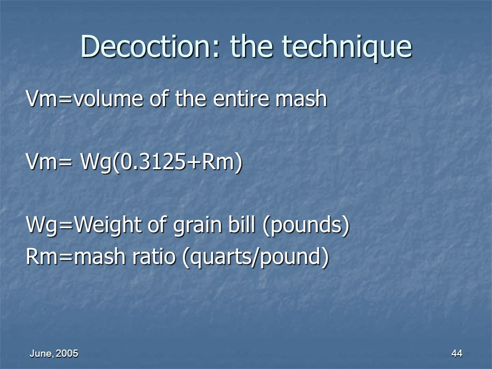 Decoction: the technique