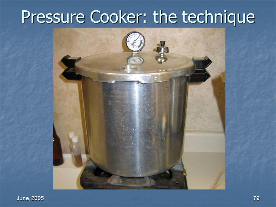 Pressure Cooker: the technique