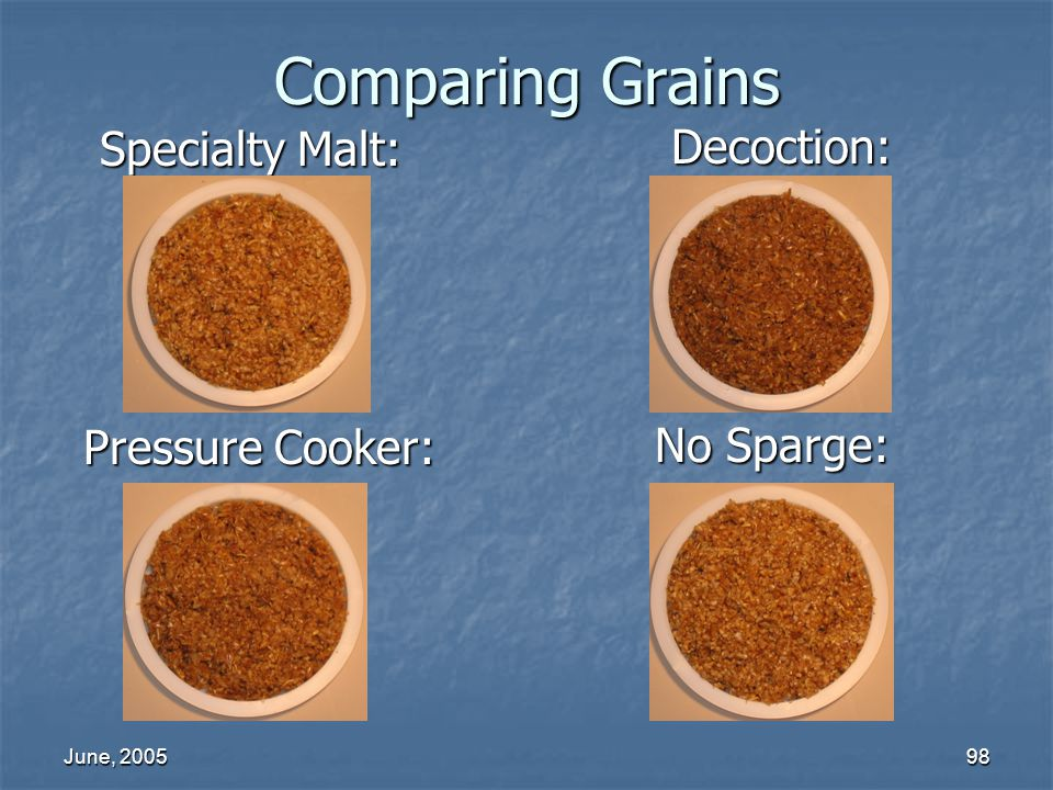 Comparing Grains Specialty Malt: Decoction: Pressure Cooker: