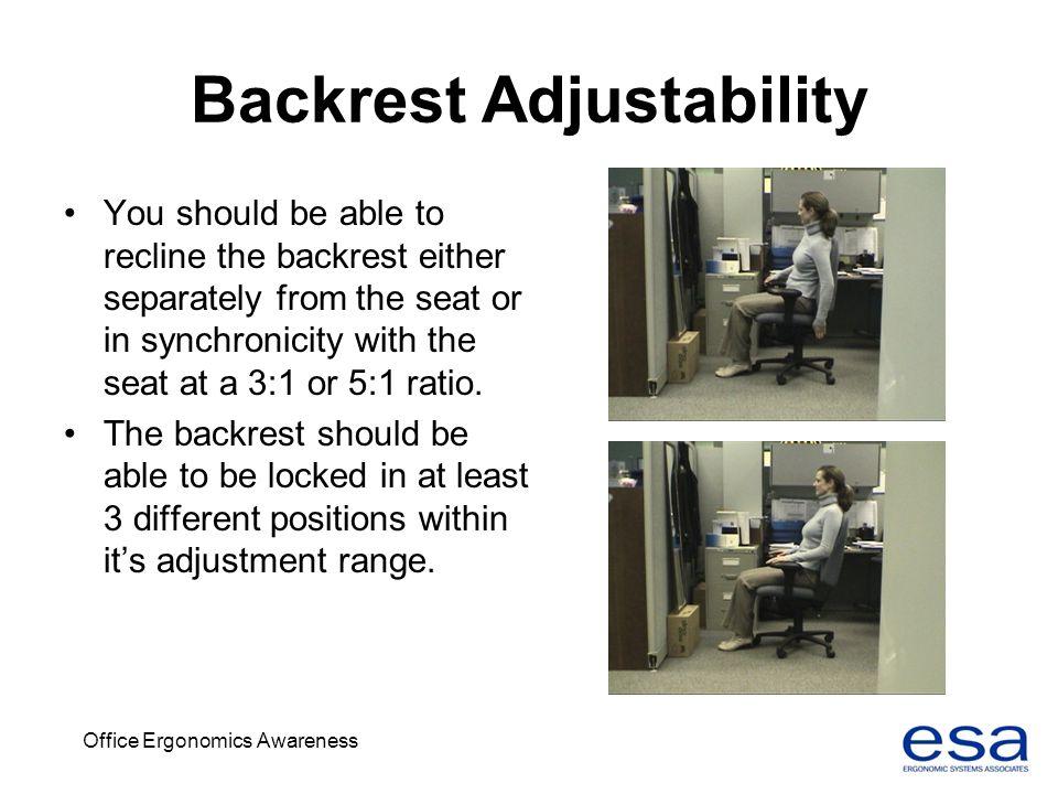 Backrest Adjustability