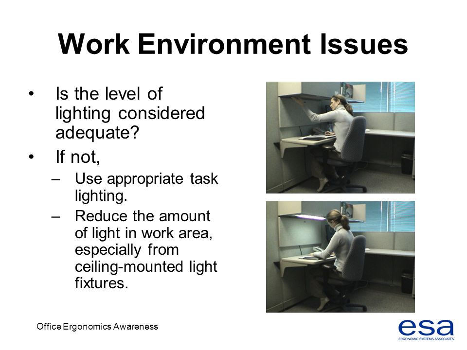 office lighting levels at work. work environment issues office lighting levels at e