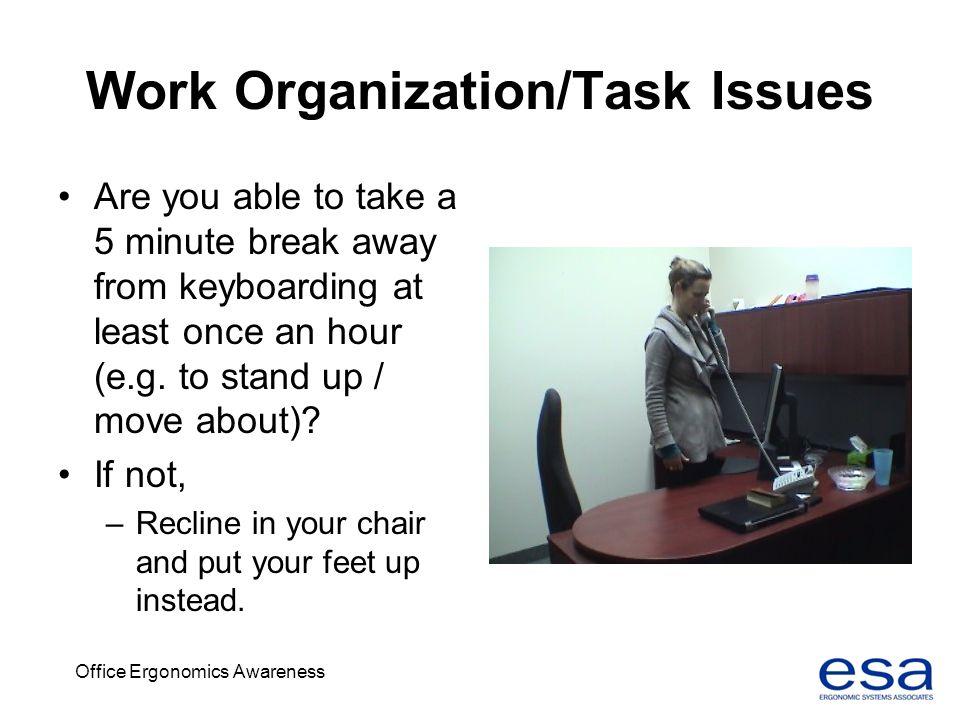 Work Organization/Task Issues