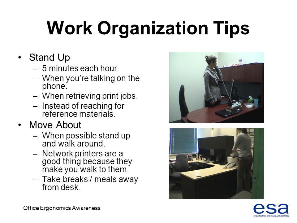 Work Organization Tips