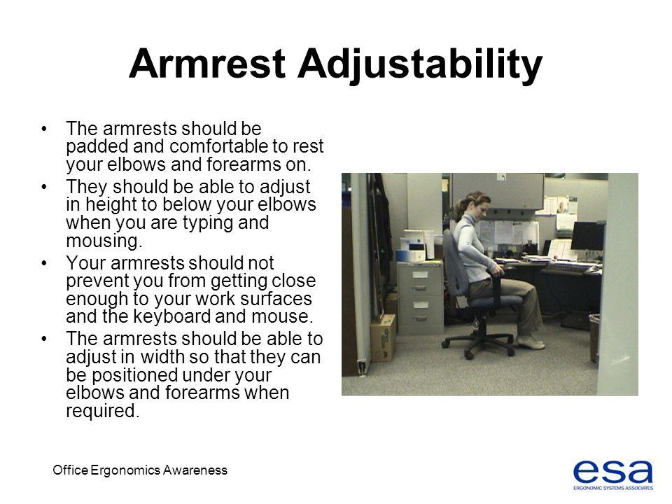 Armrest Adjustability