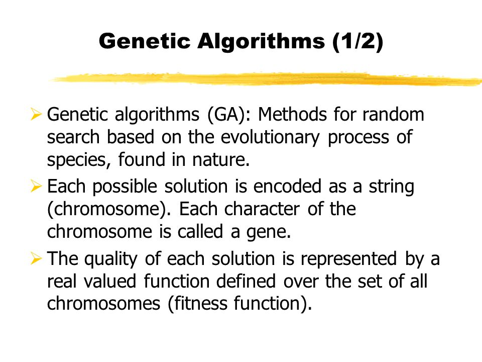 Genetic Algorithms (1/2)