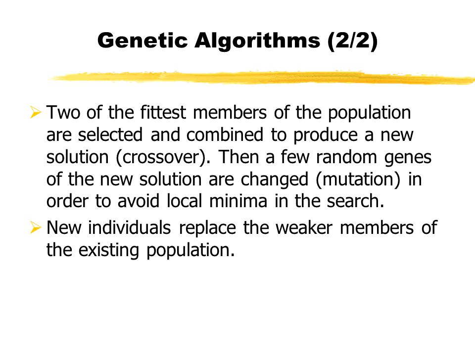 Genetic Algorithms (2/2)