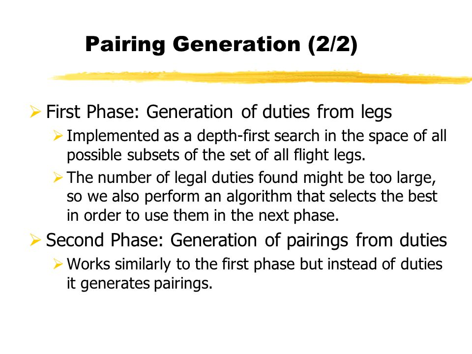 Pairing Generation (2/2)