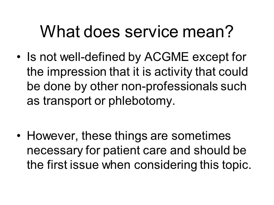 What does service mean