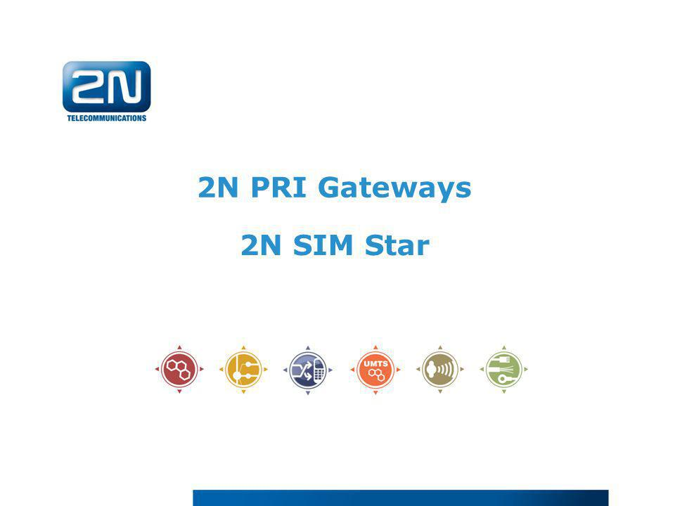 2N PRI Gateways 2N SIM Star