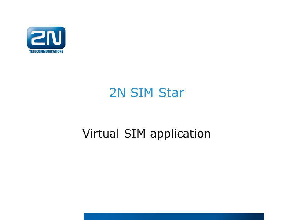 Virtual SIM application