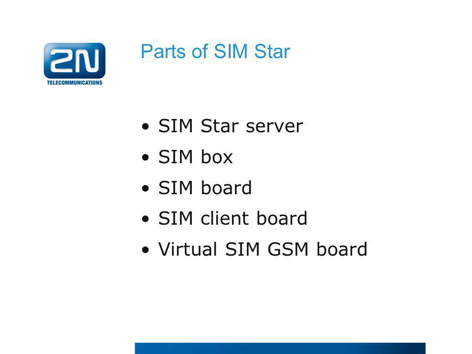 Parts of SIM Star SIM Star server SIM box SIM board SIM client board
