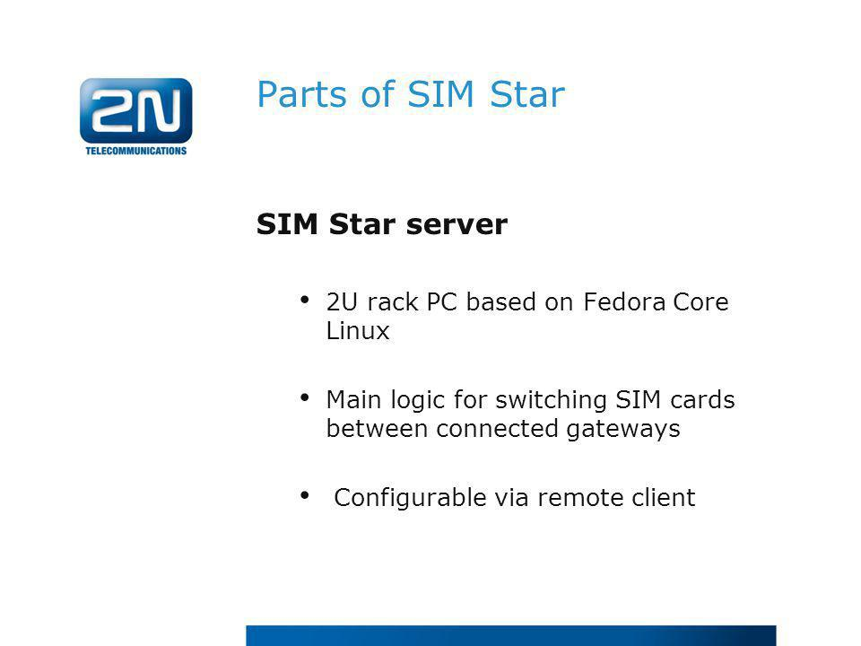 Parts of SIM Star SIM Star server