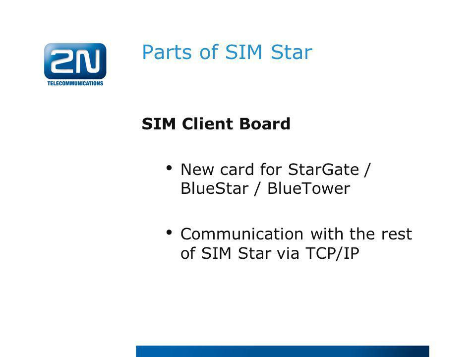 Parts of SIM Star SIM Client Board