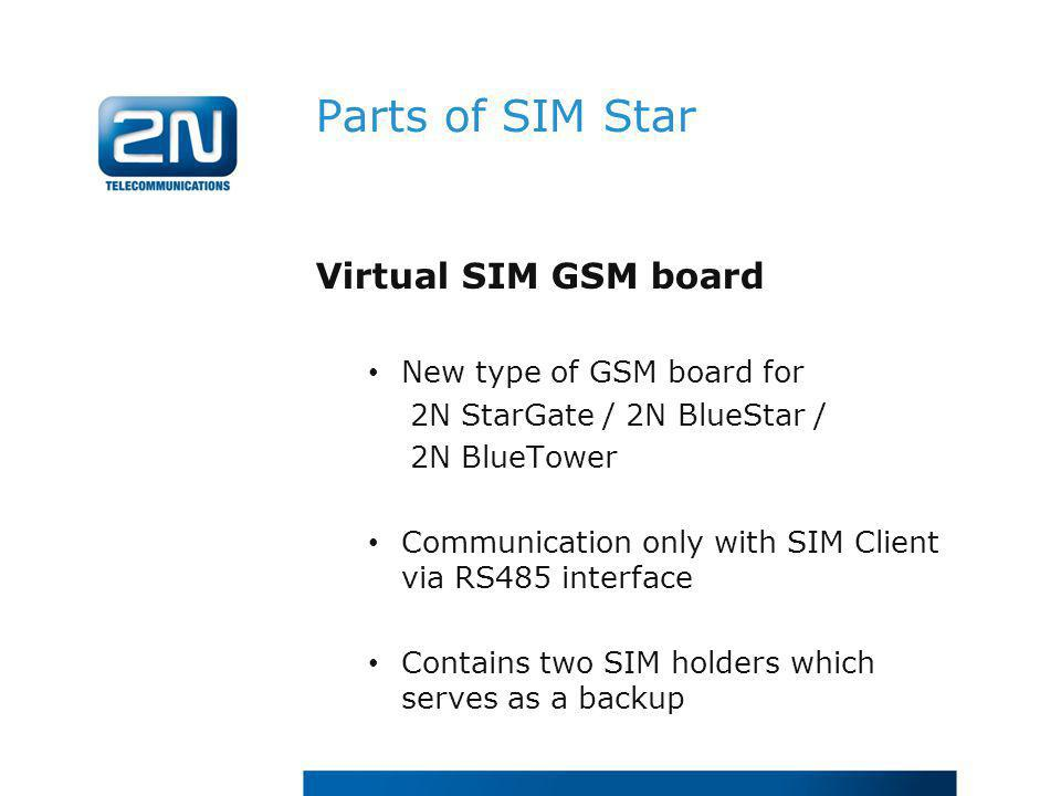 Parts of SIM Star Virtual SIM GSM board New type of GSM board for