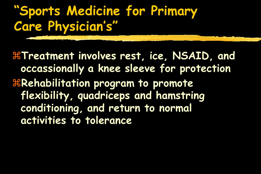 Sports Medicine for Primary Care Physician's