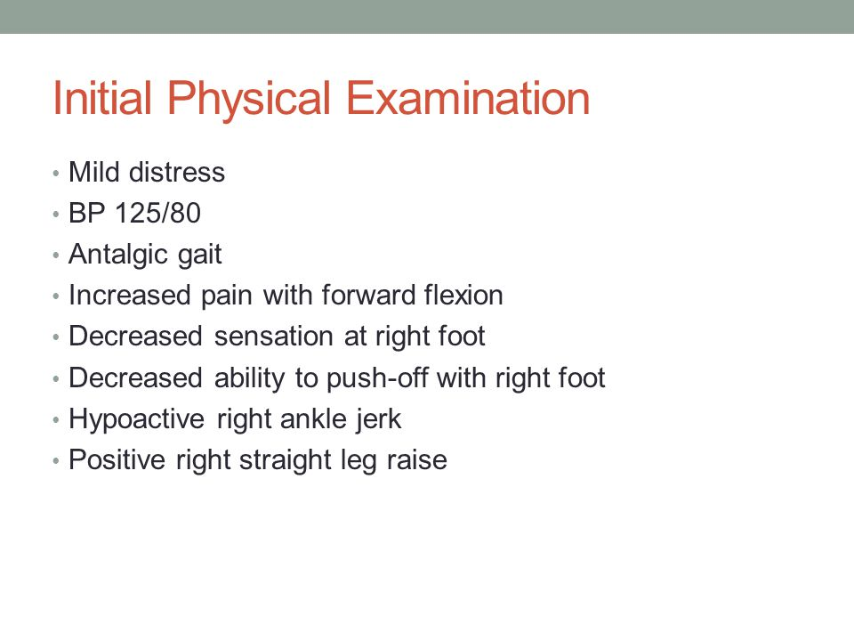 Initial Physical Examination