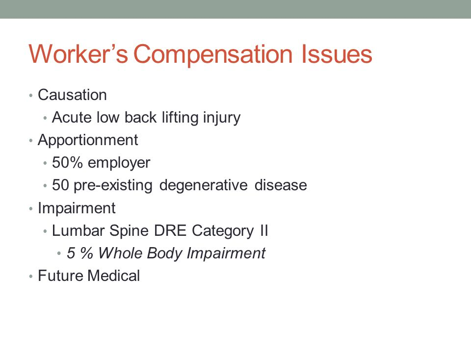 Worker's Compensation Issues