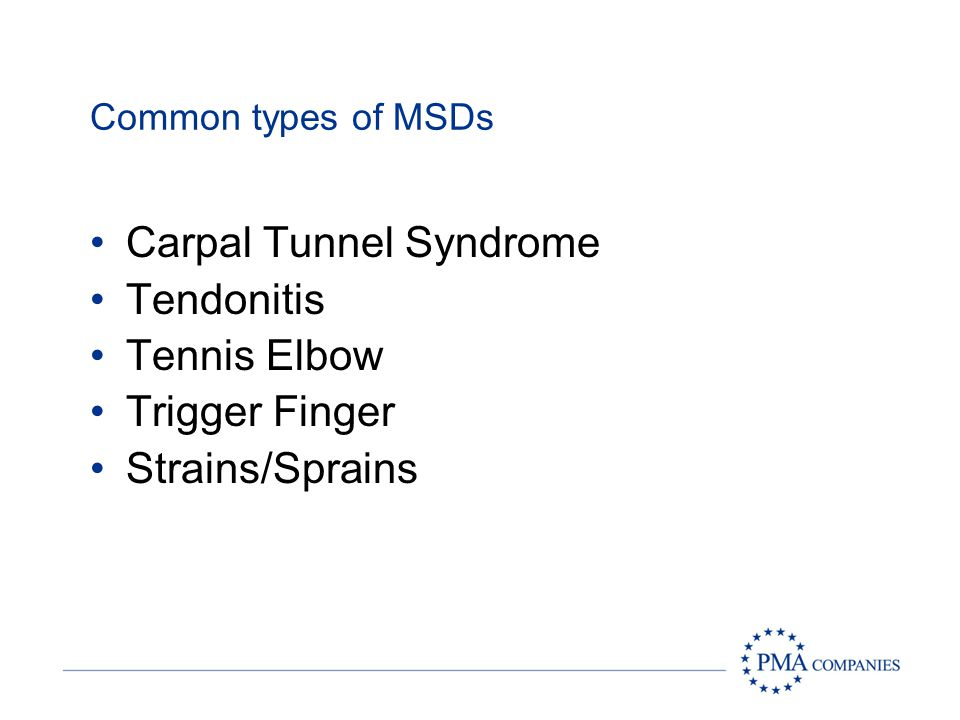 Carpal Tunnel Syndrome Tendonitis Tennis Elbow Trigger Finger