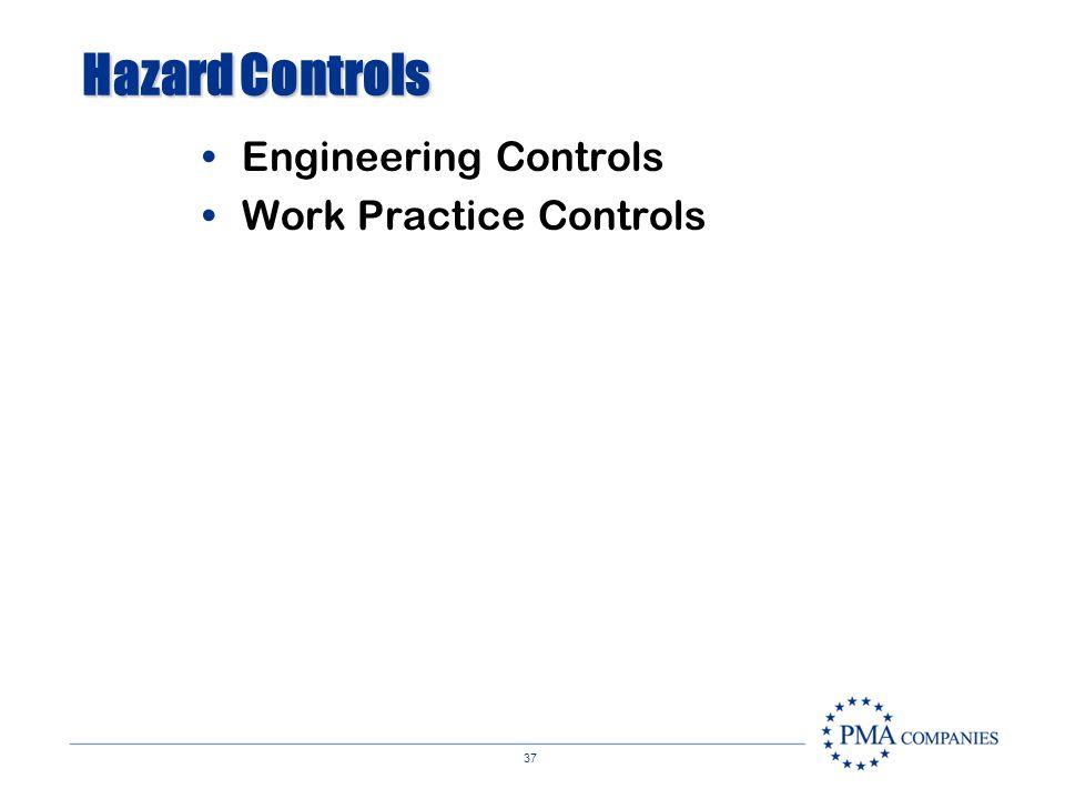 Hazard Controls Engineering Controls Work Practice Controls