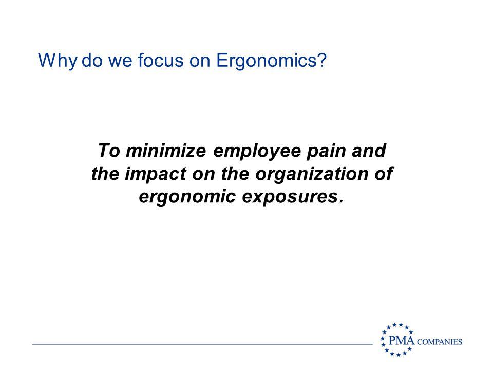Why do we focus on Ergonomics