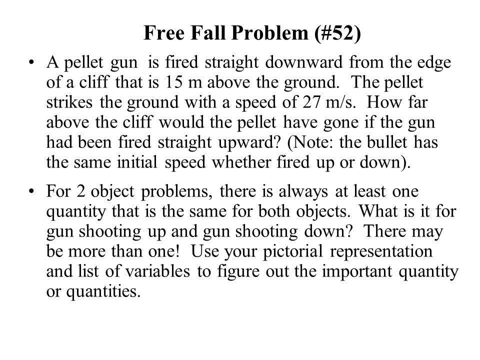 Free Fall Problem (#52)