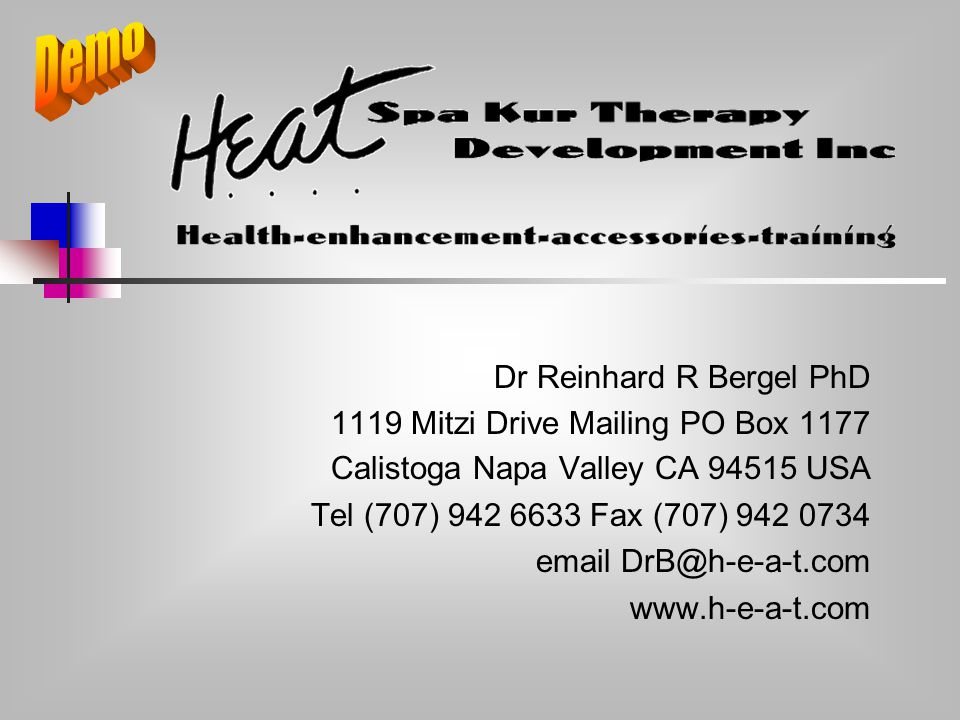 Dr Reinhard R Bergel PhD