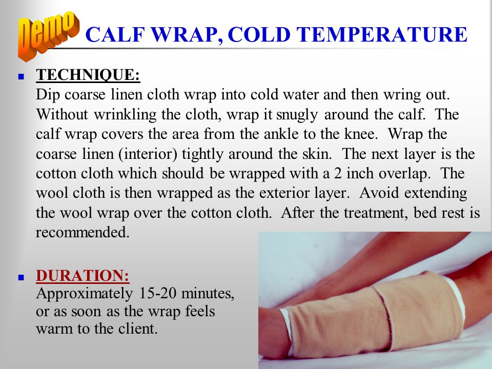 CALF WRAP, COLD TEMPERATURE