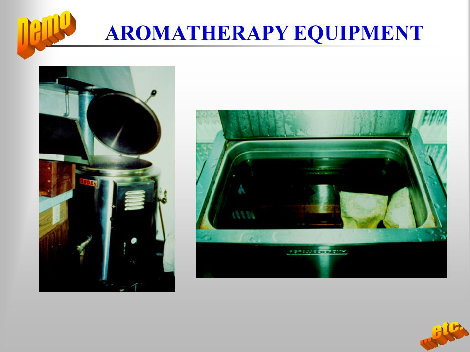 AROMATHERAPY EQUIPMENT