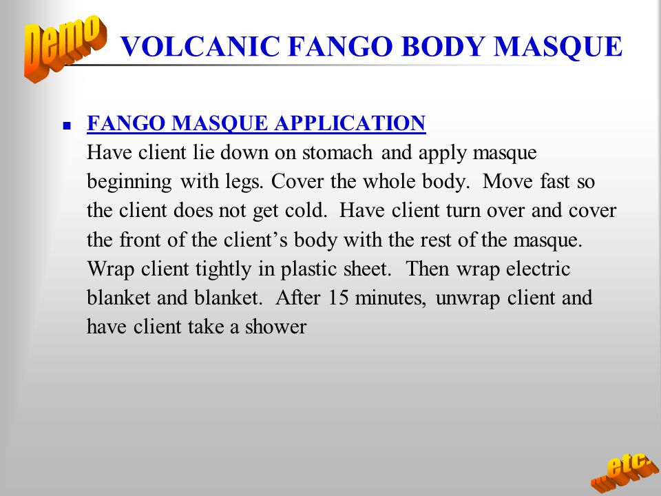 VOLCANIC FANGO BODY MASQUE