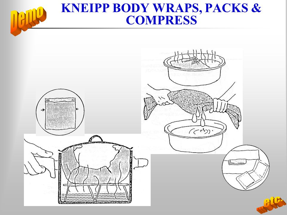 KNEIPP BODY WRAPS, PACKS & COMPRESS