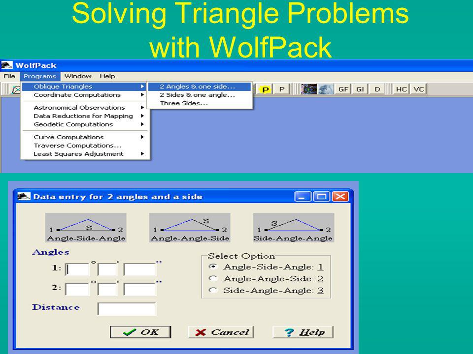 Solving Triangle Problems with WolfPack