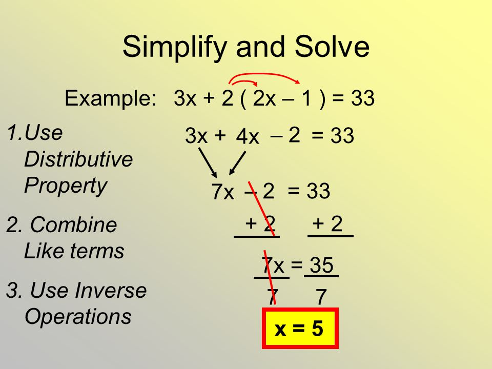 Solve Multi Step Equations Ppt Video Online Download