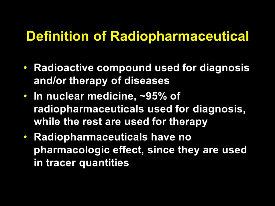 Definition of Radiopharmaceutical