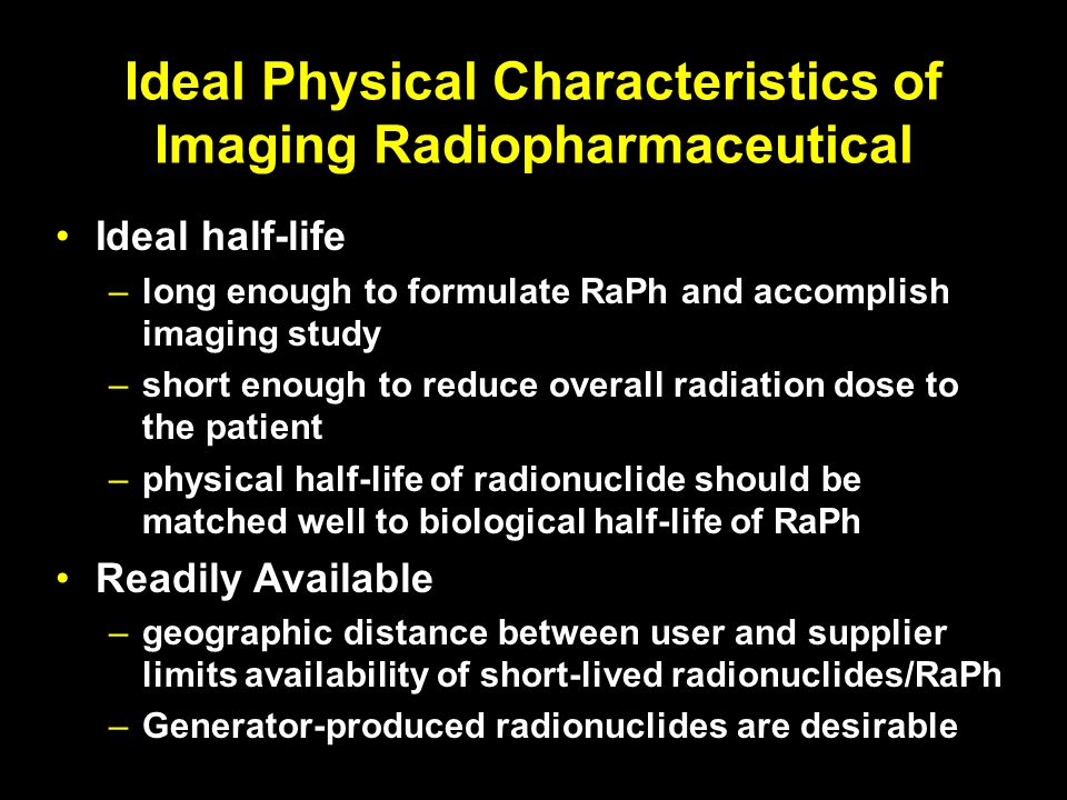 Ideal Physical Characteristics of Imaging Radiopharmaceutical