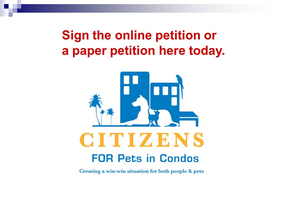 Sign the online petition or